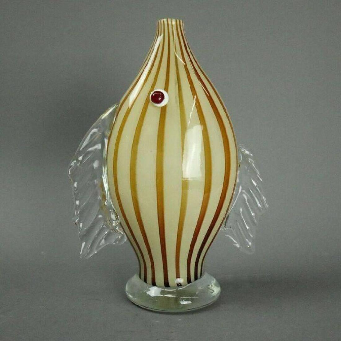 Mid-Century Modern Murano Mouth Blown Art Glass Fish - 2