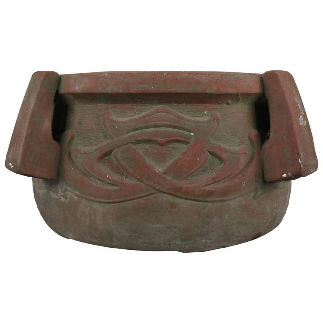 Arts & Crafts Terracotta High Relief and Handled