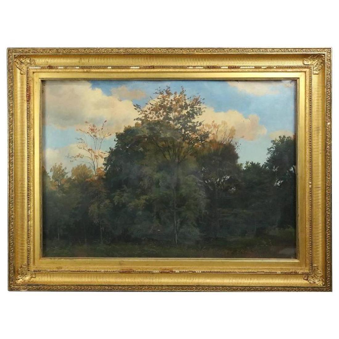 Hudson River School Impressionist Landscape Painting
