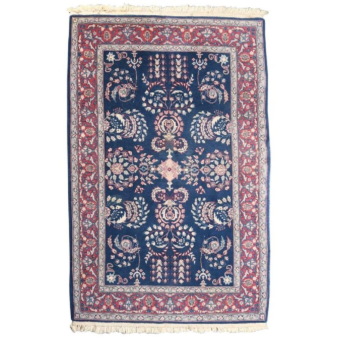 "Vintage Persian Sarouk Floral Oriental Rug 76.5"" x 49"""