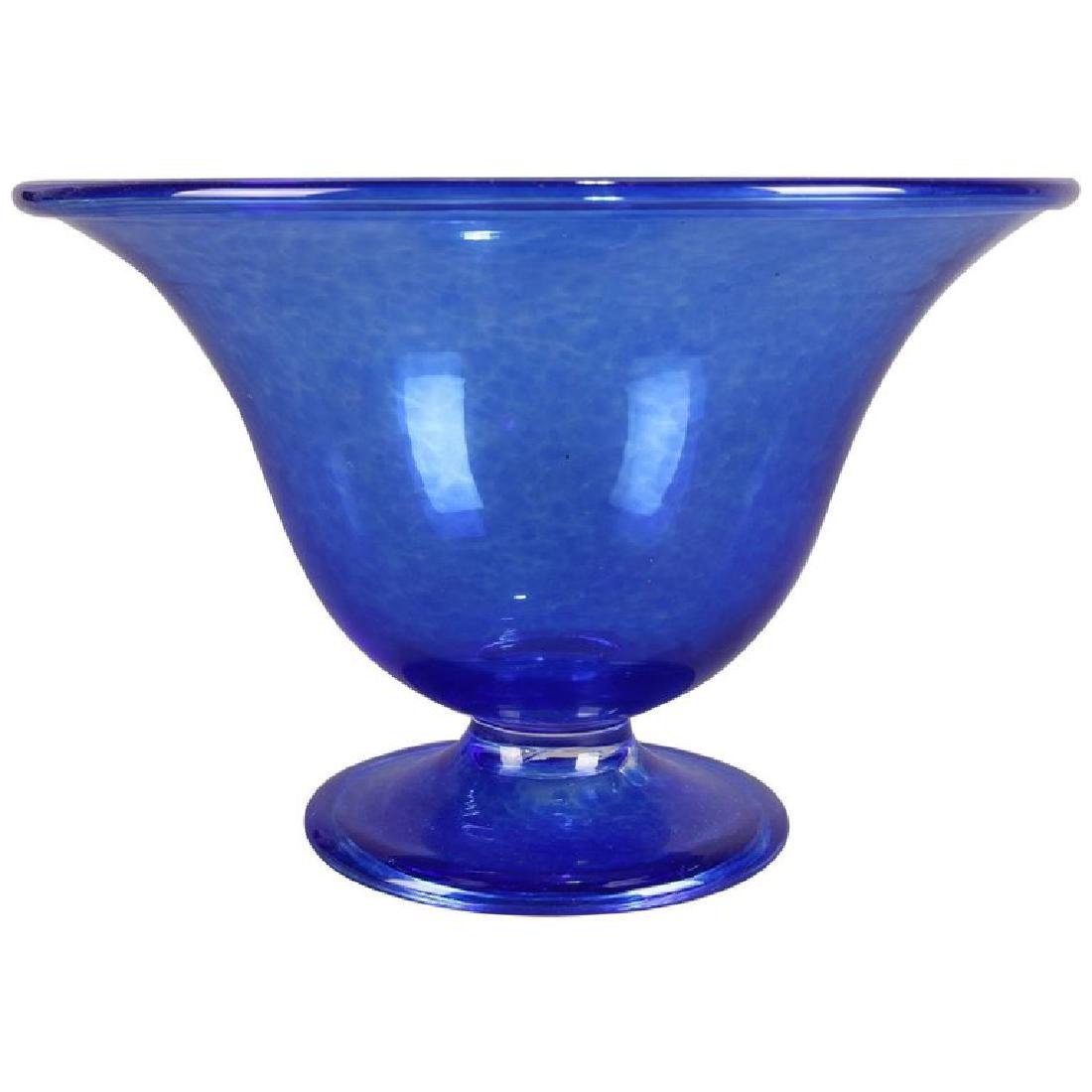 Steuben's Corning Museum of Glass Cobalt Blown Compote