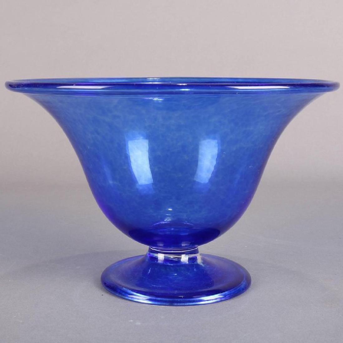 Steuben's Corning Museum of Glass Cobalt Blown Compote - 2