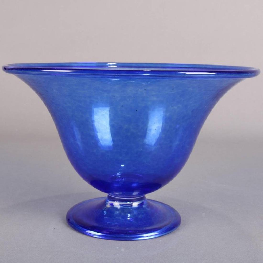 Steuben's Corning Museum of Glass Cobalt Blown Compote - 3