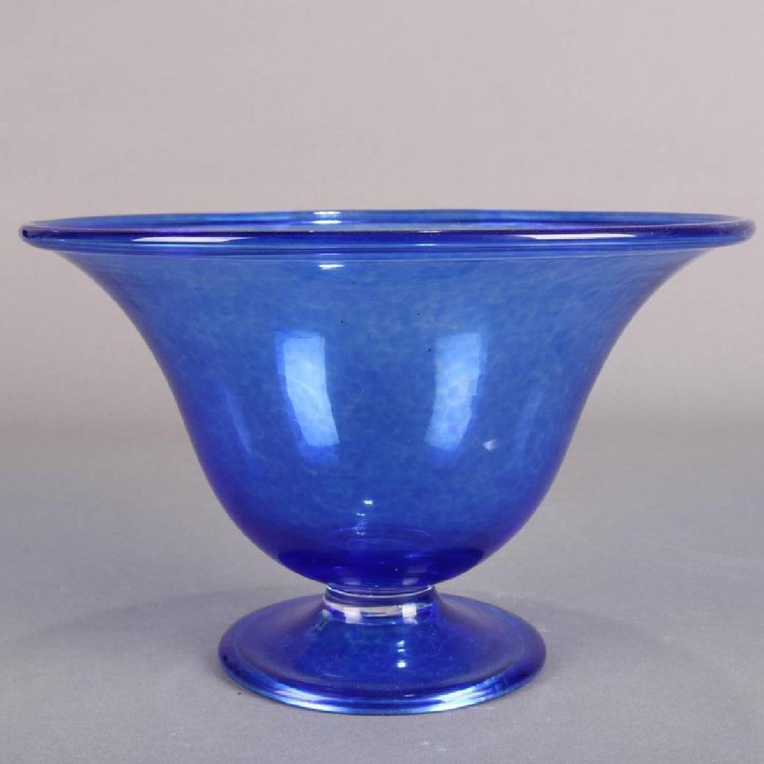 Steuben's Corning Museum of Glass Cobalt Blown Compote - 4