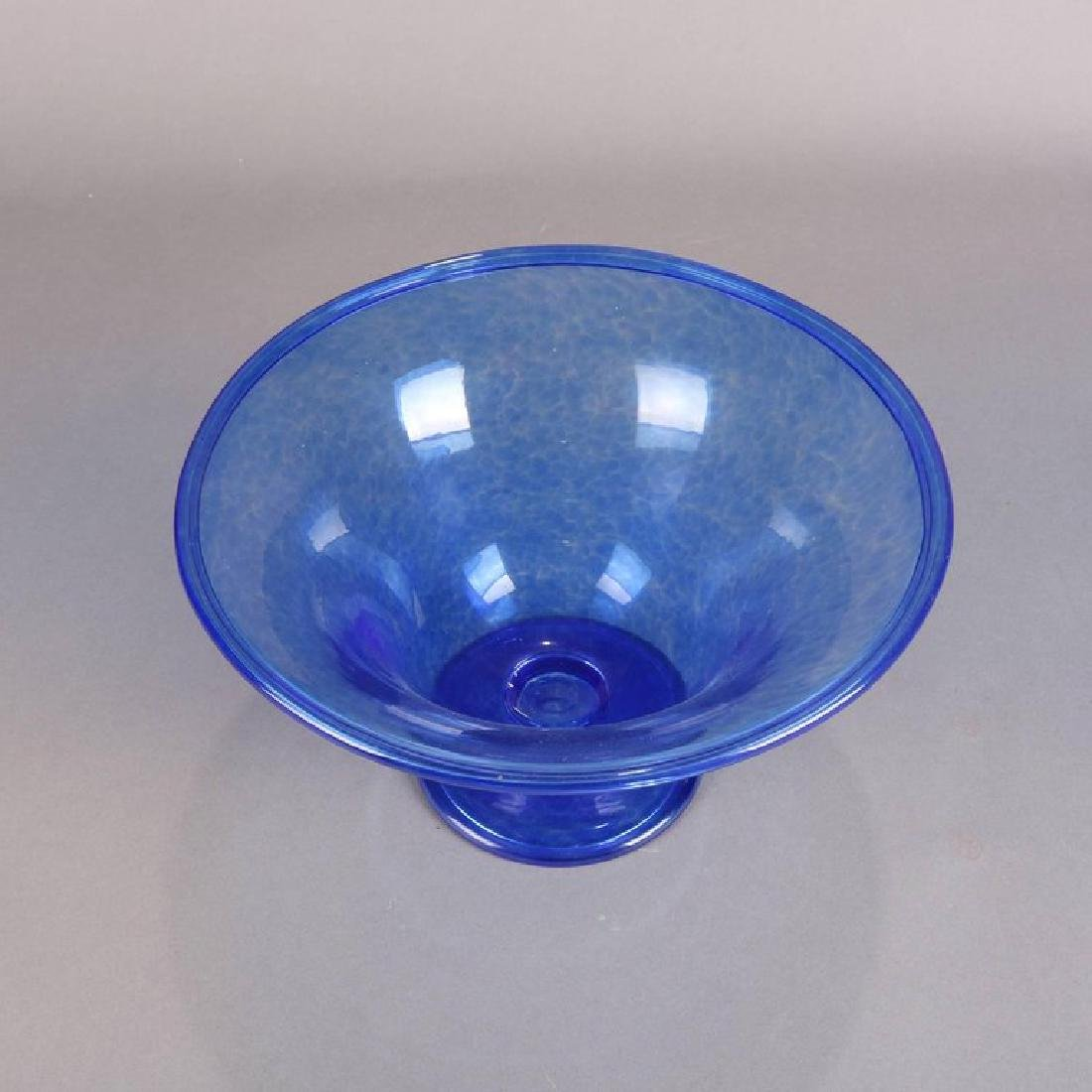 Steuben's Corning Museum of Glass Cobalt Blown Compote - 5