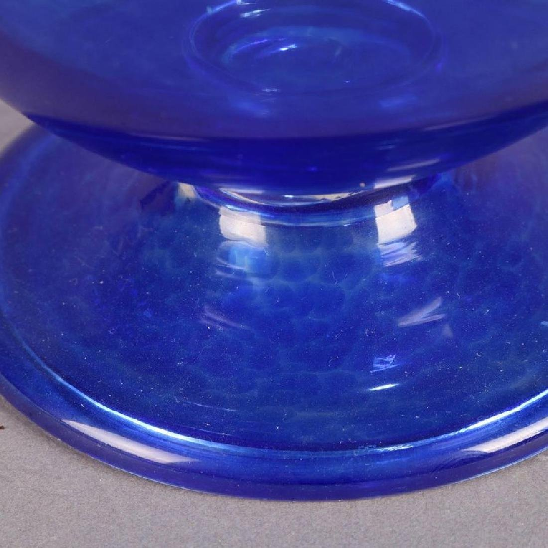 Steuben's Corning Museum of Glass Cobalt Blown Compote - 6