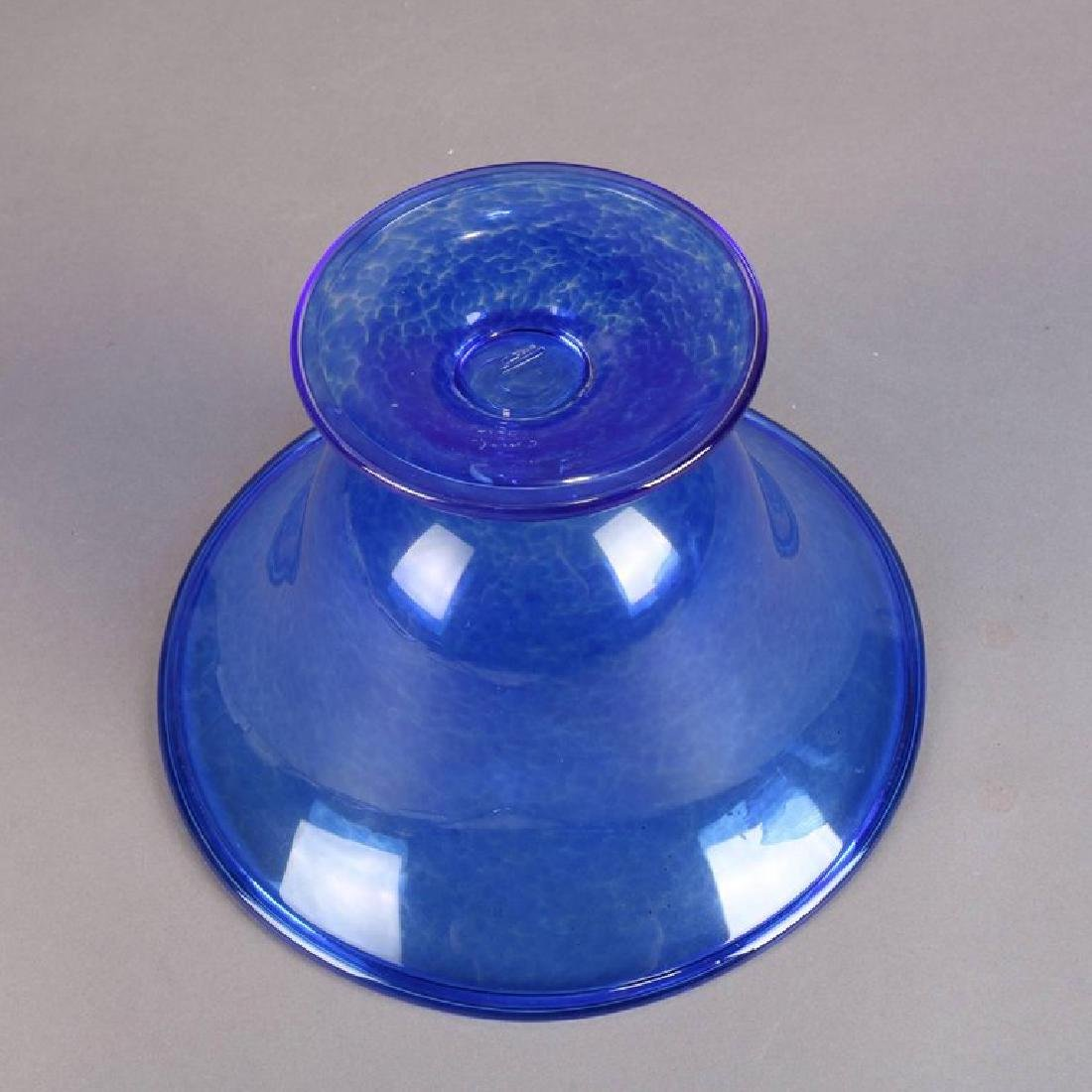 Steuben's Corning Museum of Glass Cobalt Blown Compote - 9
