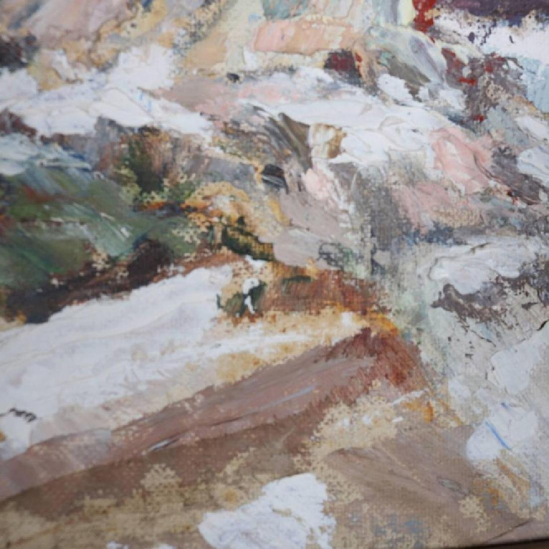 Oil on Canvas Impressionist Winter Landscape Painting - 10