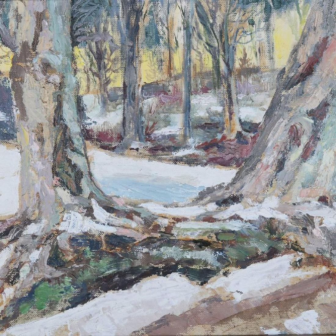 Oil on Canvas Impressionist Winter Landscape Painting - 2