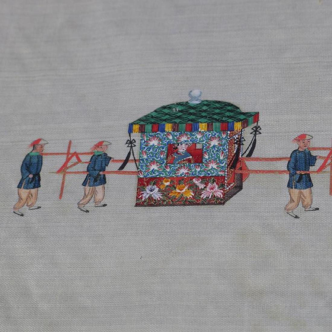 Antique Chinese Zhou Pei-Chun Ink & Color on Silk - 4