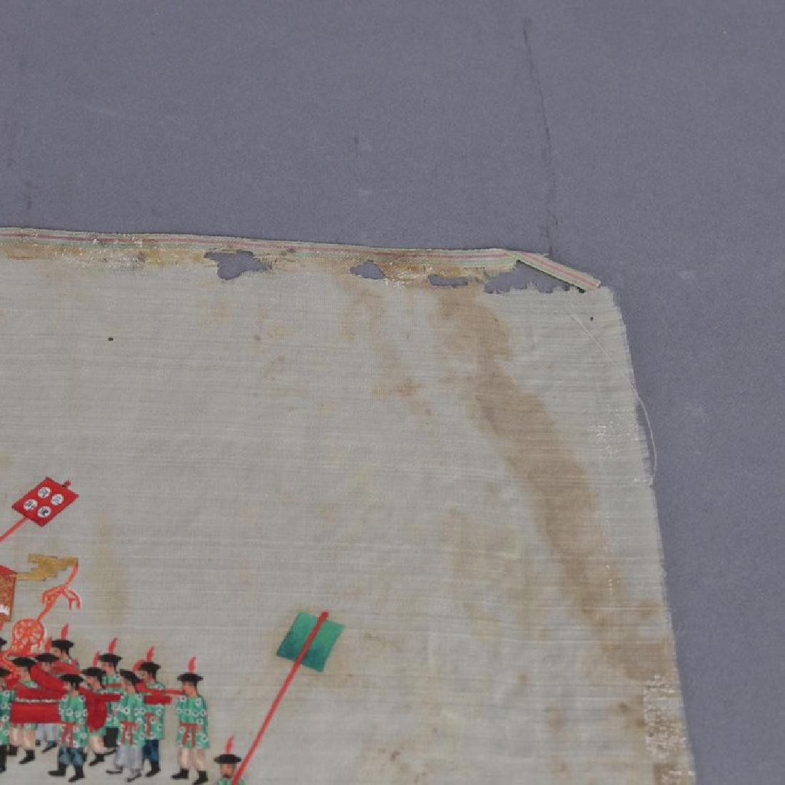 Antique Chinese Zhou Pei-Chun Ink and Color on Silk - 10