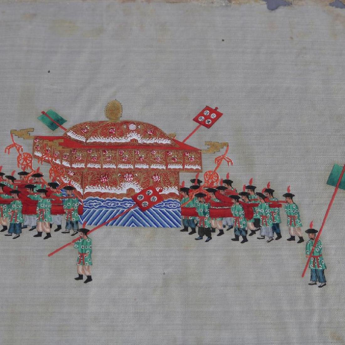Antique Chinese Zhou Pei-Chun Ink and Color on Silk - 3