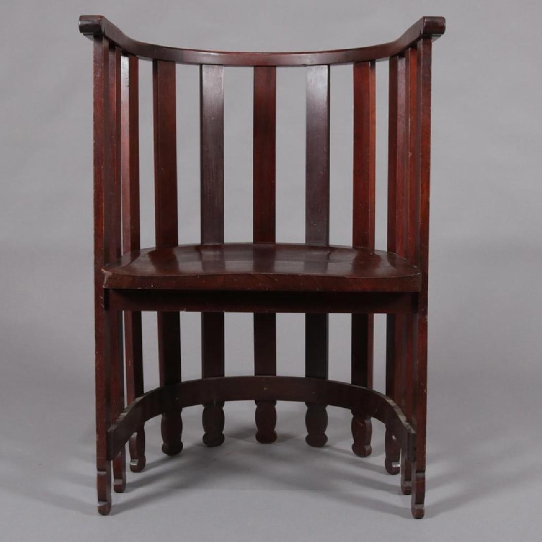 Arts & Crafts Prairie Frank Lloyd Wright School Chair - 3