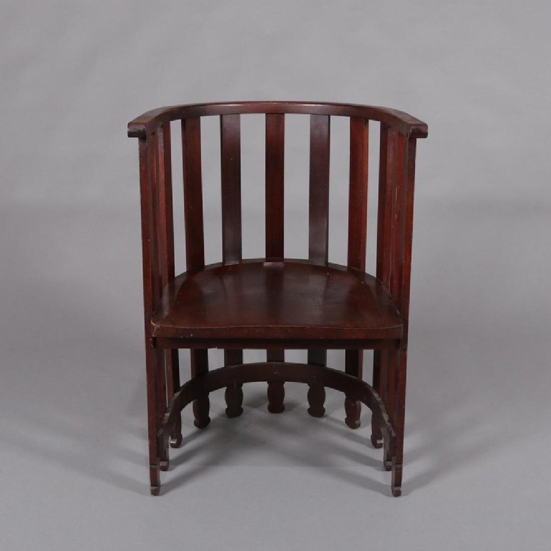 Arts & Crafts Prairie Frank Lloyd Wright School Chair - 4