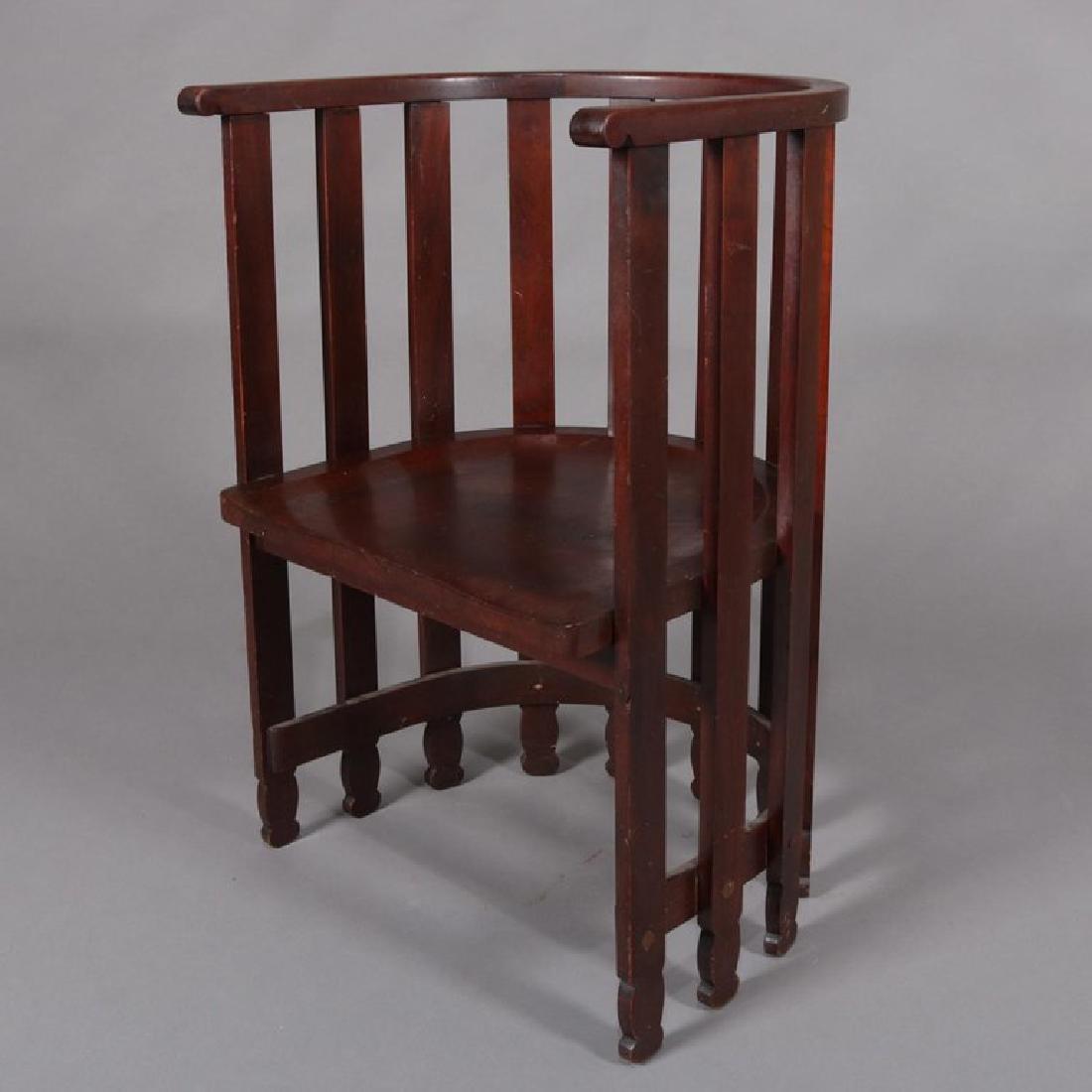 Arts & Crafts Prairie Frank Lloyd Wright School Chair - 5