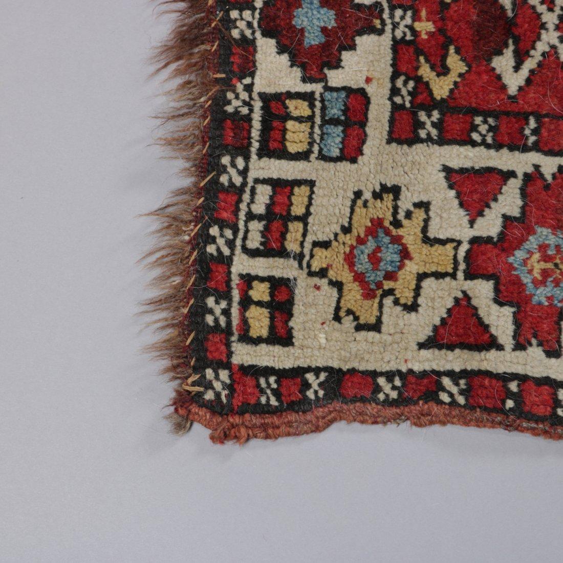 "Antique Kurdish Kazak Bordjalou Rug 72\"" x 87\"", 1890 - 2"