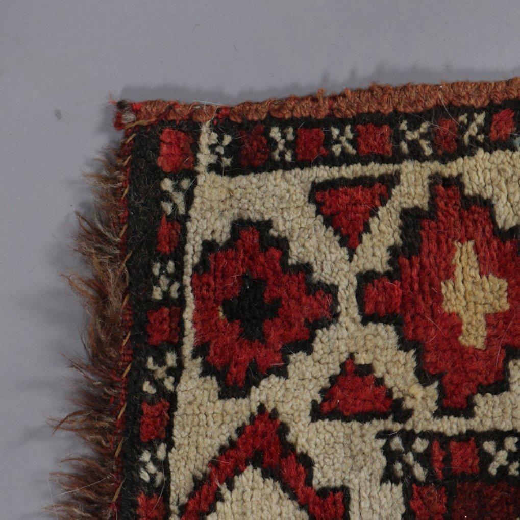 "Antique Kurdish Kazak Bordjalou Rug 72\"" x 87\"", 1890 - 3"