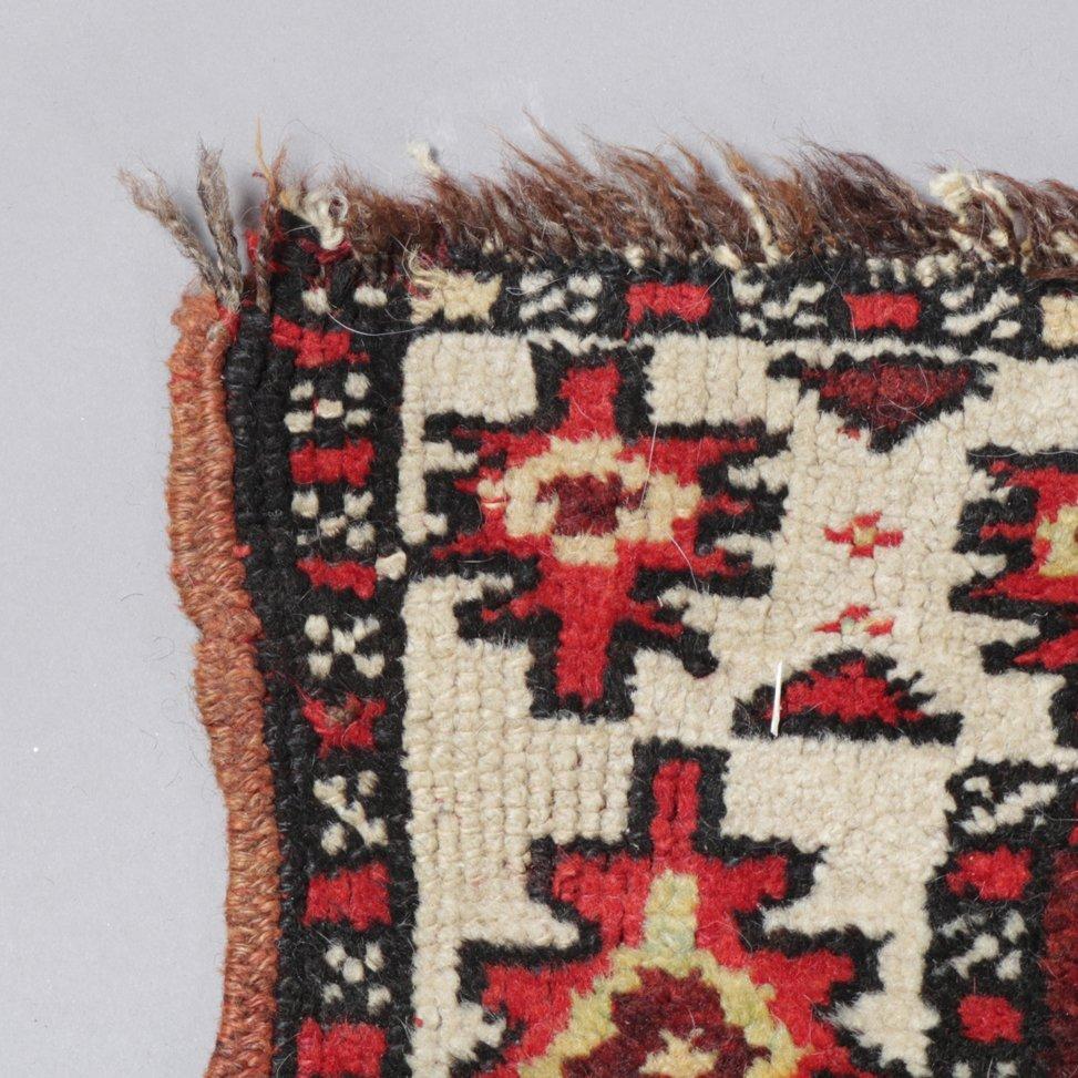 "Antique Kurdish Kazak Bordjalou Rug 72\"" x 87\"", 1890 - 4"