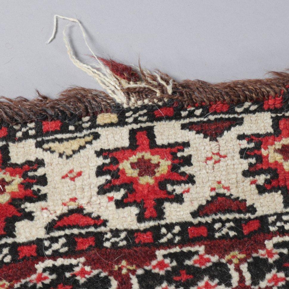 "Antique Kurdish Kazak Bordjalou Rug 72\"" x 87\"", 1890 - 5"