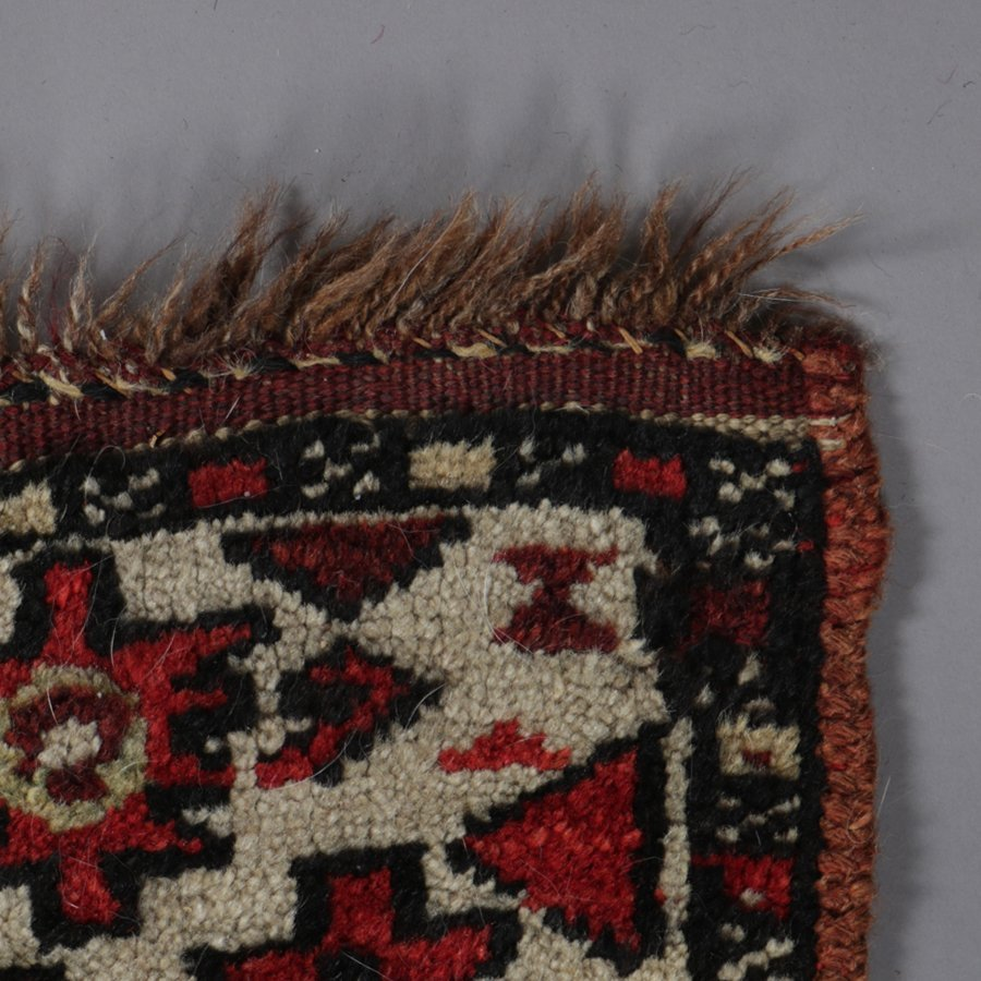 "Antique Kurdish Kazak Bordjalou Rug 72\"" x 87\"", 1890 - 6"