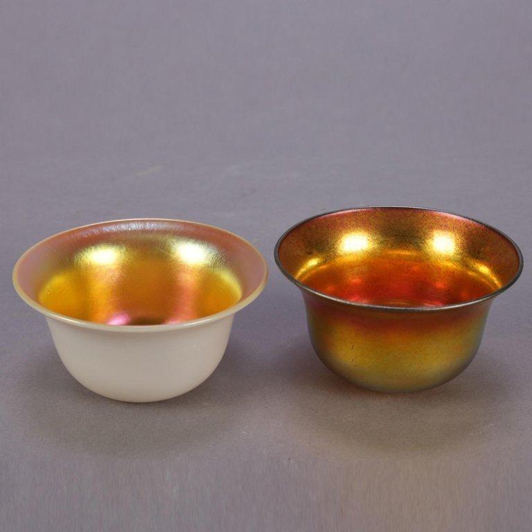 2 Arts & Crafts Brush Cups, Steuben Calcite & Aurene - 2