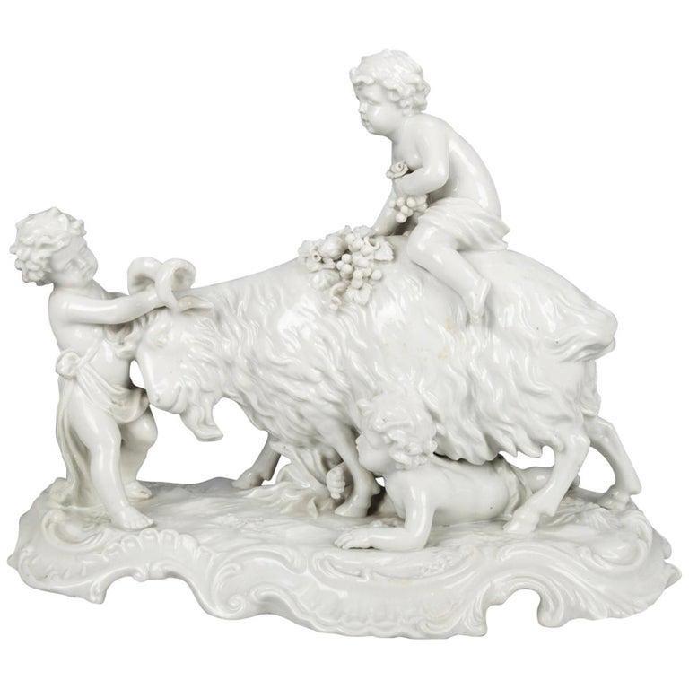 Antique Italian Capodimonte Figural Blanc de Chine