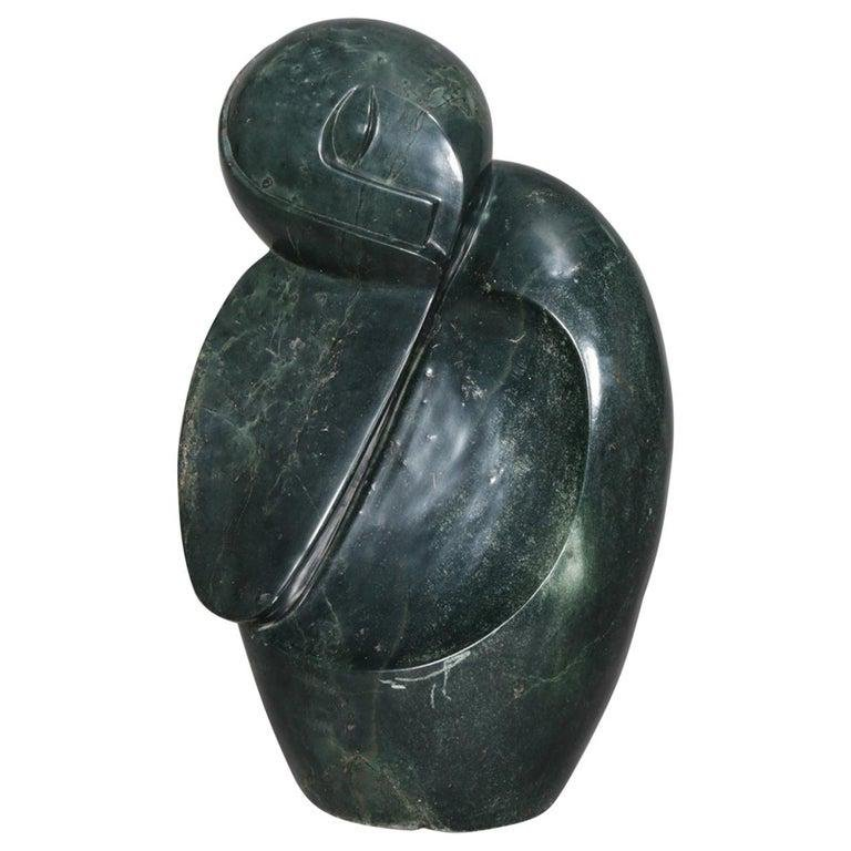 Tribal Alaskan Inuit Abstract Carved Stone Sculpture