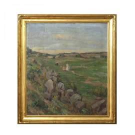 Lg Pennsylvania Impressionist Painting, E. Groome c1920