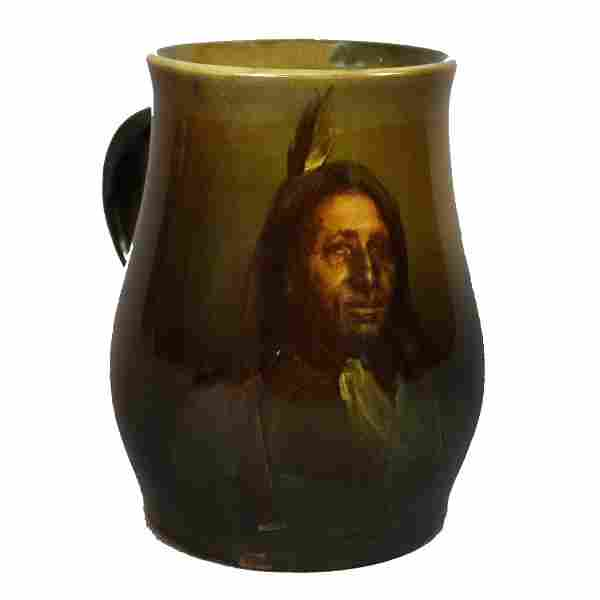 Albert R. Valentien for Rookwood American Indian Mug