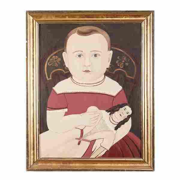 Matthew Prior School Oil on Board Portrait of a Child