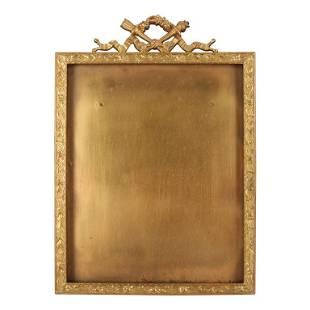 Antique French Classical Empire Ormolu Foliate Frame