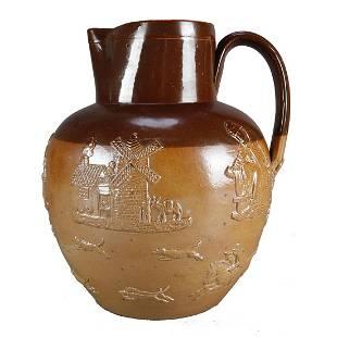 Large Royal Doulton Lambeth Stoneware Pitcher