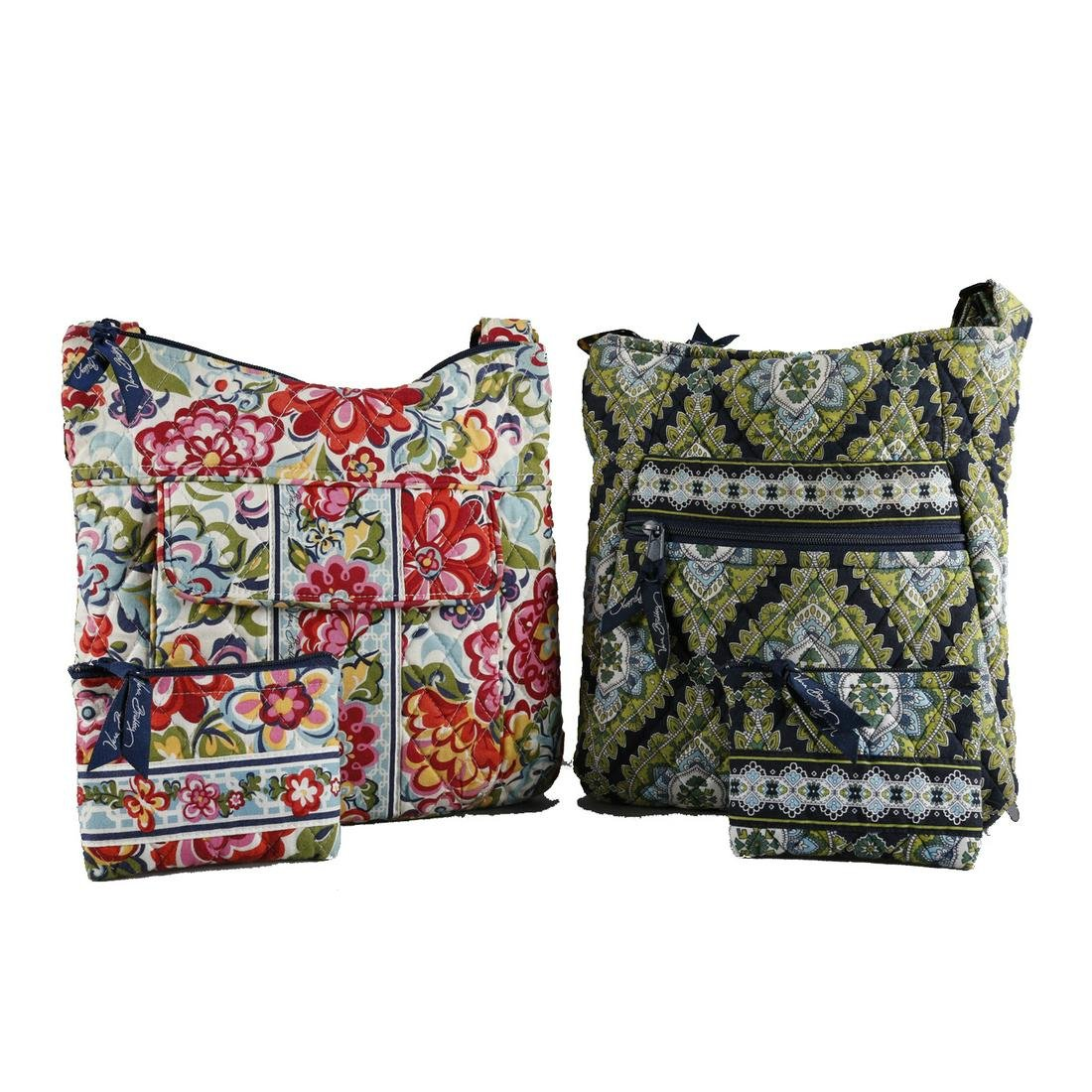 2 Vera Bradley Shoulder Bags with Matching Coins
