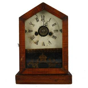 Grain Painted Mantle Clock