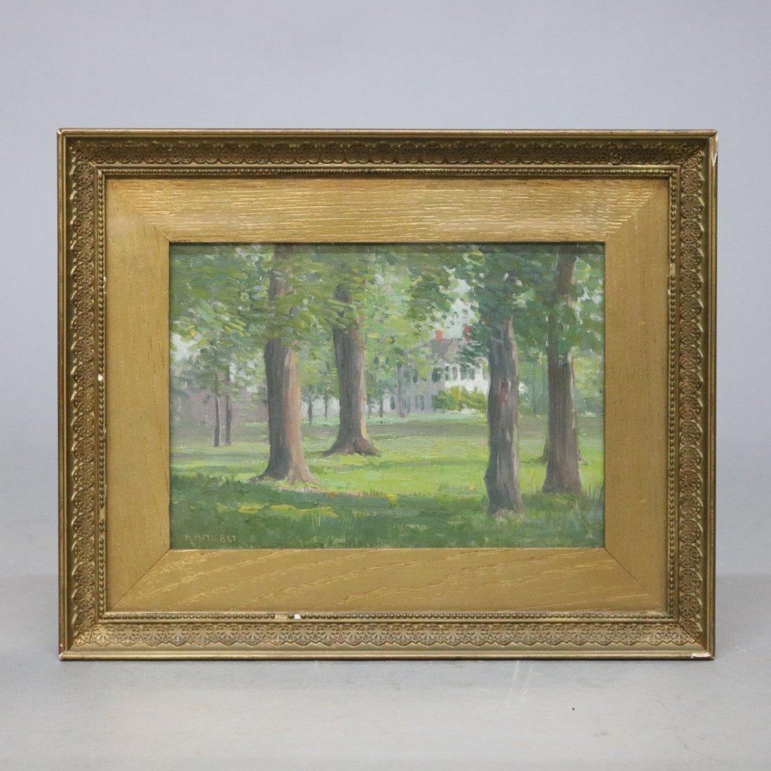 Antique Landscape Painting by Robert Hogg Nisbet
