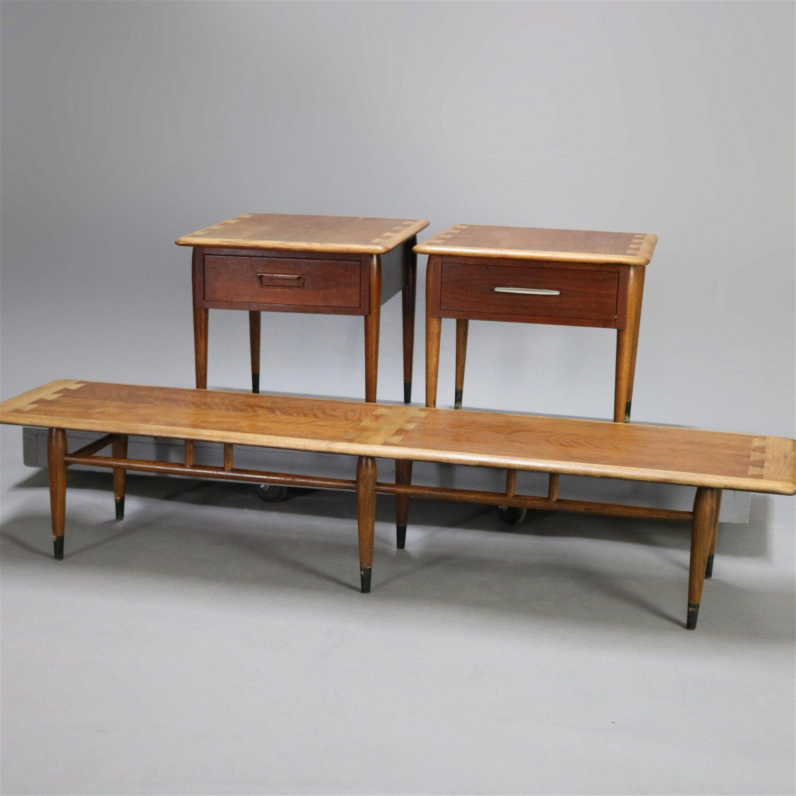 Midcentury Danish Modern Ash & Walnut Coffee End Tables