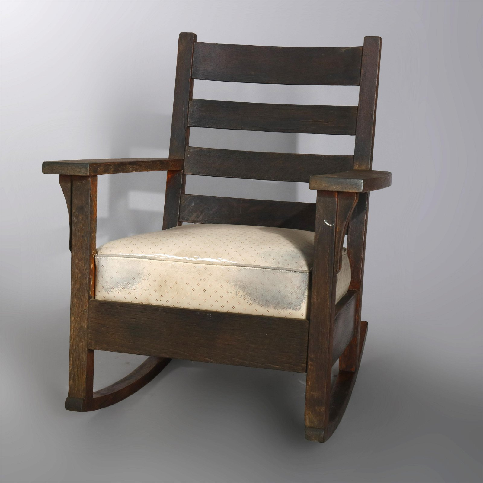Arts & Crafts J.M. Young Mission Oak Rocking Chair