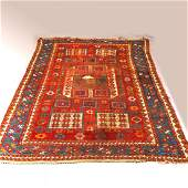 Karachov Kazak Caucasian Oriental Rug 19th C