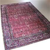 Antique Lavar Kirman Arabesques Persian Oriental Rug