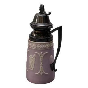 Lilac Classical Jasperware Syrup attr Wedgwood