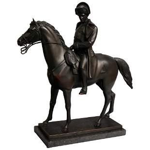 Early Austrian Alois Hernick Bronze, Napoleon zu Pferde