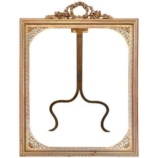 Oversized French Bronze Neoclassical Picture Frame