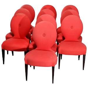 10 Angelo Donghia Casper Designer Modern Dining Chairs