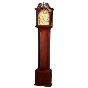 Antique Pennsylvania Federal Mahogany Tall Case Clock