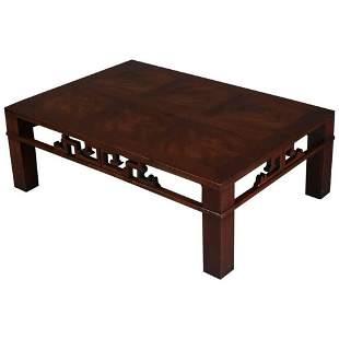 MCM Chinese Style Mahogany Coffee Table, Henredon