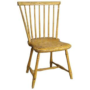 Antique Painted and Stenciled Windsor Chair, c1820