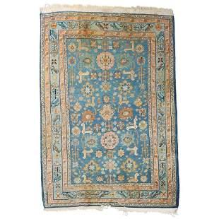 Antique Persian Shirvan Wool Oriental Rug, circa 1930