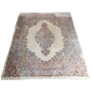 Vintage Persian Floral Kirman Oriental Room Size Rug