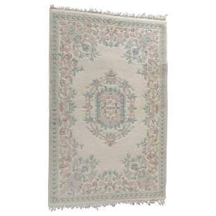 Vintage Persian Kirman Style Floral Wool Oriental Rug
