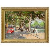 French Impressionist Parisian Painting, The Left Bank